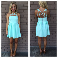 Pale Mint Strappy Dress