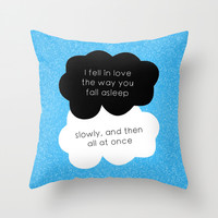 TFiOS Quote Throw Pillow by royaltyblood