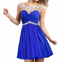 Beaded Mini Dress by Party Time