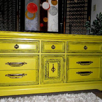 Special OrDer hand painted retro yellow Special by ShopSevenD7
