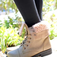 Keep Me Cozy Bootie - Taupe