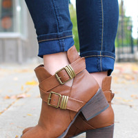 Step Up Bootie - Tan