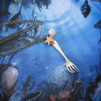 The Little Mermaid Dinglehopper Necklace by SweetWhatevers on Etsy
