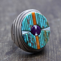 Matchstick Native American Men's Ring