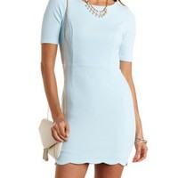 Scalloped Open Back Bodycon Dress by Charlotte Russe