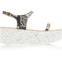 Stella McCartney - Snake-effect faux leather platform sandals