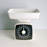Mid Century Modern Kitchen Scales - KRUPS Germany - White - 1970's Kitchen Appliance, Cooking, Baking, Vintage Chef, Cook