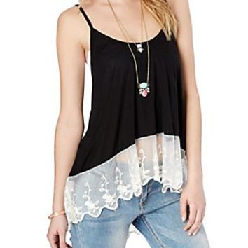 Lace Trim High-Low Cami