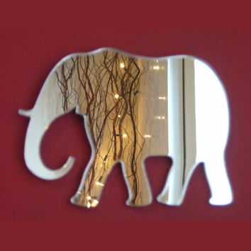 Elephant Mirror - 5 Sizes Available plus Packs of 10 Baby Elephant Crafting Mirrors