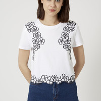Daisy Cropped Tee - Topshop