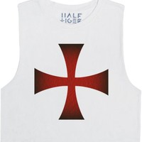 Knights Templar Muscle Tank Top-Female Snow T-Shirt