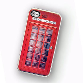 iPhone Case British Phone Box Phone Booth Hard Case / Fits Iphone 4, 4S