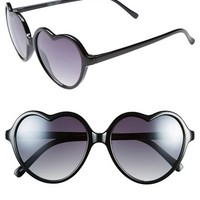 BP. 'Luv' Tortoiseshell Heart 55mm Sunglasses (Juniors)