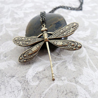 SALE Dragonfly Necklace Eating Disorder by PeriwinkleParadise