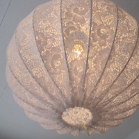 $99.00 Pendant light made in shabby chic style by Missremaidsweden
