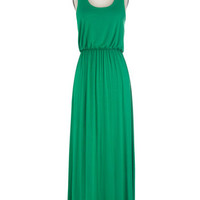 ModCloth Minimal Long Tank top (2 thick straps) Maxi Breezy Night Stroll Dress in Green