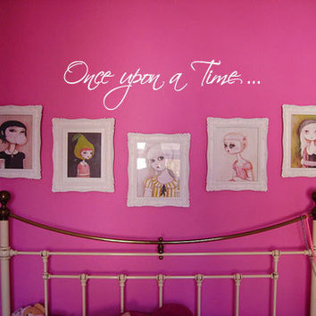 Once Upon a Time Vinyl Wall Quote Decal by 7decals on Etsy