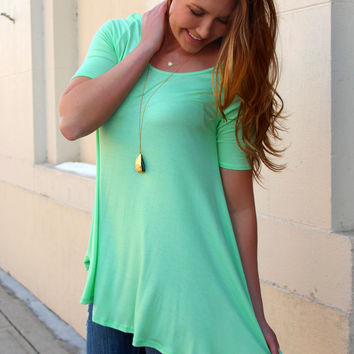 Key Elements Top - Light Mint