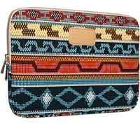 Dachee 2014 New Bohemian Style Canvas Fabric 13 Inch Laptop Sleeve Macbook / Macbook Pro / Macbook Air Sleeve Case Dell / Hp /Lenovo/sony/ Toshiba / Ausa / Acer /Samsun Ultrabook Bag Cover (13-13.3 inches, New)