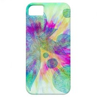Tie Dye Graphic Doodle iPhone 5 Case. from Zazzle.com