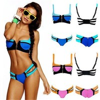 Prty Oyaip Women's Bandage Bikini Set Push-up Padded Bra Swimsuit Bathing Suit