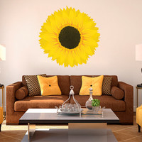 Sunflower Printed Vinyl Wall Decals - Any Room Vinyl Wall Decals Sticker Quotes