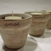 Love Conquers All Unique Tealight/Votive by onepurpledandelion