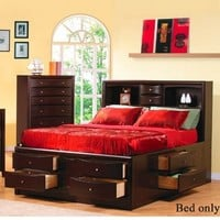Coaster B1 = Headboard, Base, Slat, Rails-Deep Cappuccino