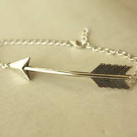 Silver Arrow BRACELET with Sterling Silver Chain by iadornu