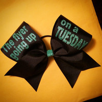 Flyer going up on a Tuesday Cheerleader Cheer Bow