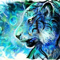 """""""Project Blue Tiger"""" - Art Print by Louis Dyer"""
