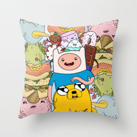 Adventure Time Throw Pillow by Laura O'Connor