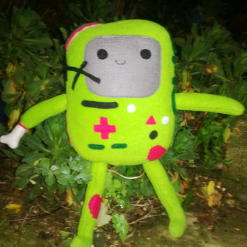 Adventure Time inspired Plush  Zombie BMO , soft cute and completely undead!