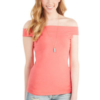 Cafe Parfait Top in Coral - Sleeveless