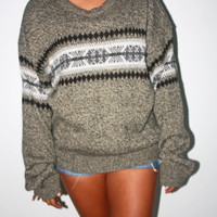Early 90's oversized Aztec sweater