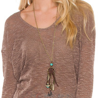 Dreamcatcher In The Sky Necklace - One Size / Multi