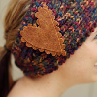 Knitted Headband in a  Painter's Pallette of Hues