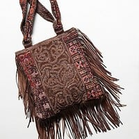 Free People Womens Reverie Fringe Tote - Whiskey One