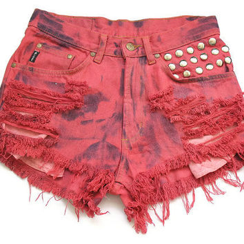High waisted cut offs L by deathdiscolovesyou on Etsy