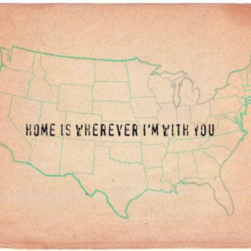 home is wherever  I'm with you  Typography Art Print  by MursBlanc