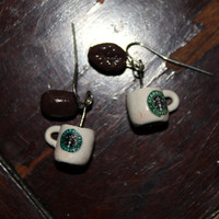Starbucks Coffee Cups with Coffee Beans