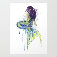 Mermaid Art Print by S Nagel