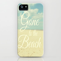 Gone To The Beach iPhone & iPod Case by Ally Coxon