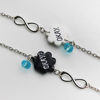 Set of Two Bracelets- The Fault In Our Stars- Charm Bracelets- Friendship Jewelry