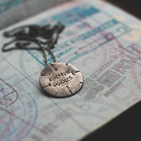 Adventure awaits: sterling silver compass  - necklace