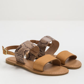 Two's Company Snake Strap Sandals