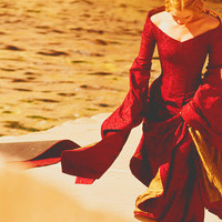 Costume Cersei Lannister Corset red gown dress fantasy medieval renaissance handmade game of thrones