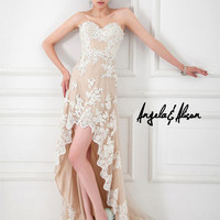 Prom Dresses 2014 - Angela and Alison Long Prom 41003 High Low