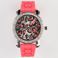 Leopard Dial Watch Coral One Size For Women 21495631301