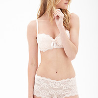 FOREVER 21 Sweetheart Lace Bra Peach 36D